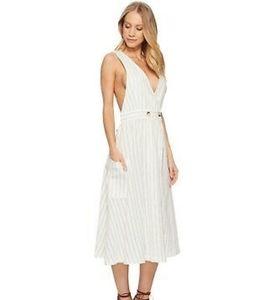 NWT Free People Diana Striped Wrap Dress L